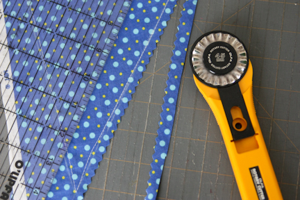 blue bunting trimmed