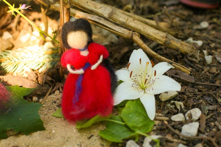 Gigi's Joy: Hil-Mar Farm wool felted dol