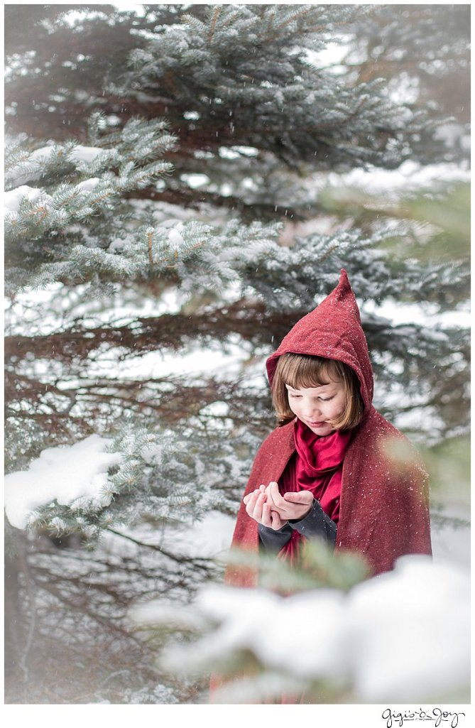 Gigi's Joy Photography: Red Riding Hood snow children's photographer Kenosha