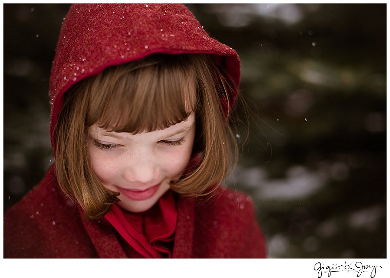 Gigi's Joy Photography: Red Riding Hood snow children's photographer Union Grove