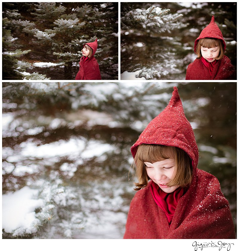Gigi's Joy Photography: Red Riding Hood snow children's photographer Burlington