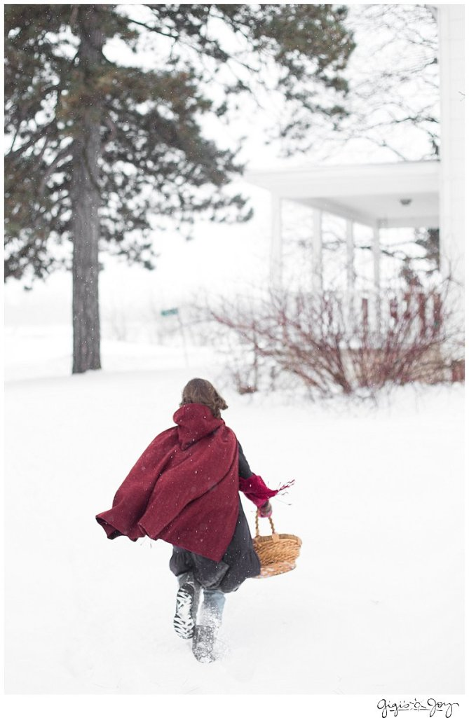 Gigi's Joy Photography: Red Riding Hood Snow Winter Children's photography Burlington