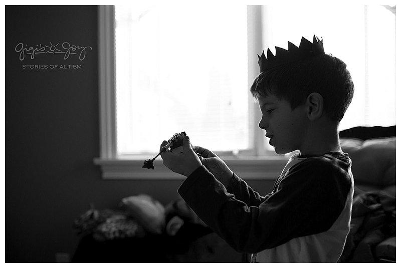 Gigi's Joy Photography: Racine Autism Photographer, boy in crown silhouette