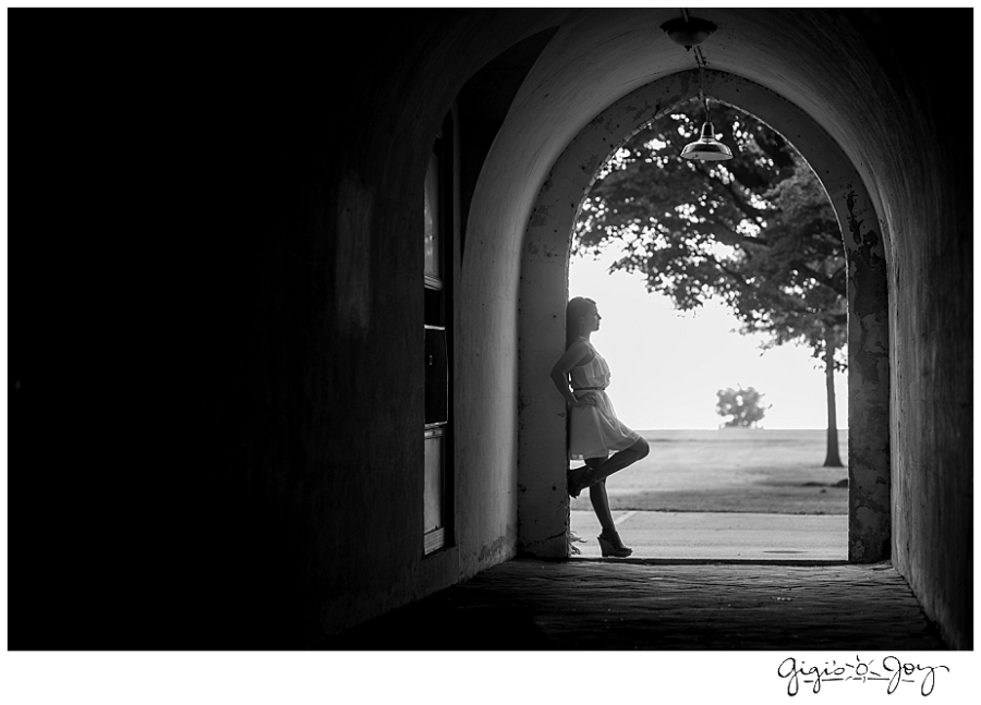 Gigi's Joy Photography Racine Senior Photographer silhouette Dekoven Center