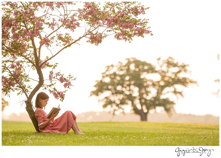 Gigi's Joy Photography: Racine Children's Portrait girl reading tree