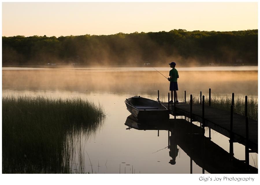 Burlington Union Grove fishing reflection