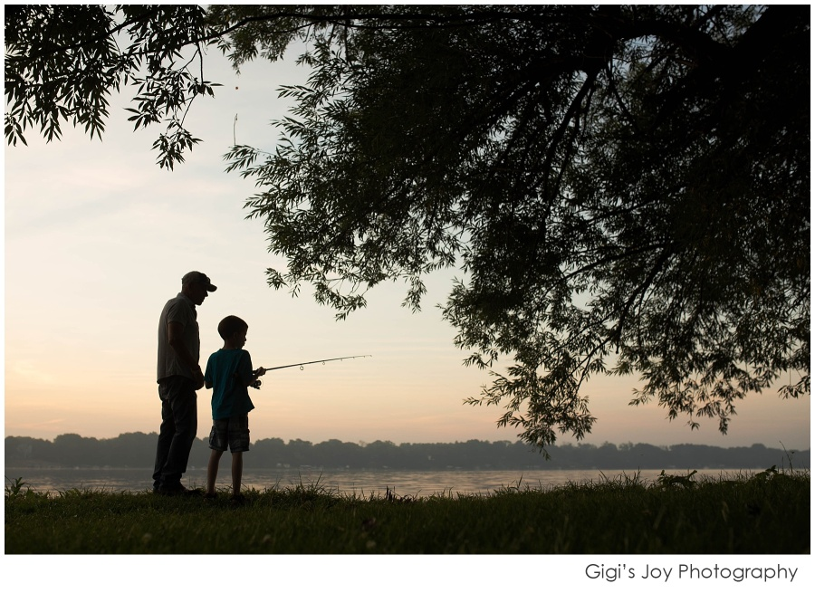 Burlington Family Photographer father son fishing