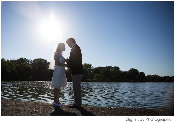 Union Grove photographer outdoor wedding artistic portrait lake