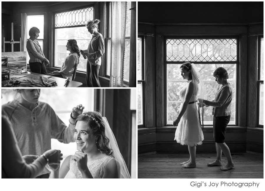 Union Grove photographer outdoor wedding artistic portrait getting ready