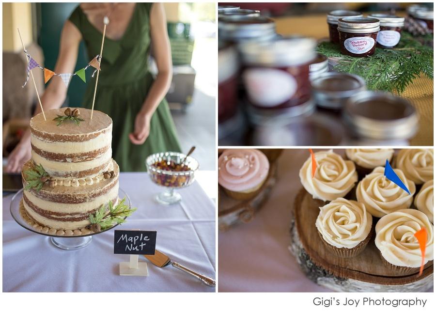 custom organic wedding cake natural
