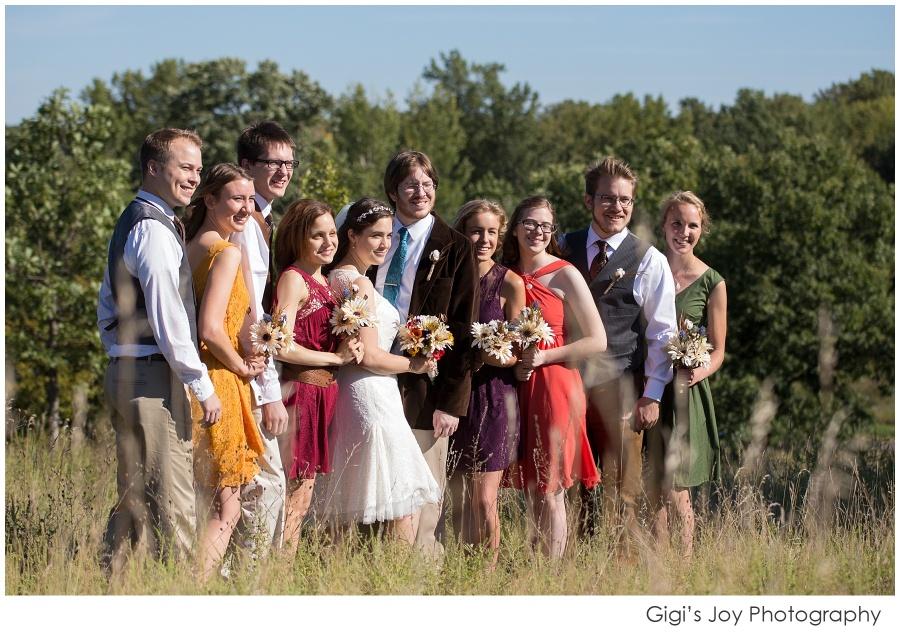 Union Grove photographer outdoor wedding artistic portrait wedding party