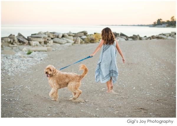 Burlington Senior Racine High School Photographer Wisconsin lifestyle dog pet lake