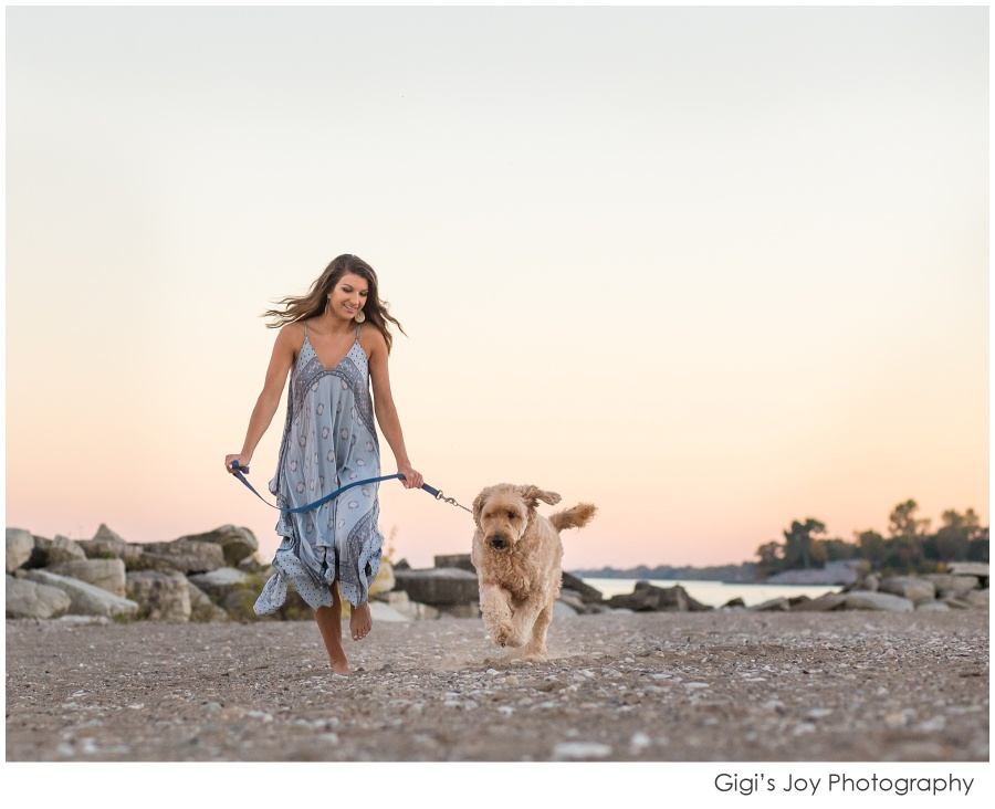 Burlington Senior Racine High School Photographer Wisconsin lifestyle lake dog pet