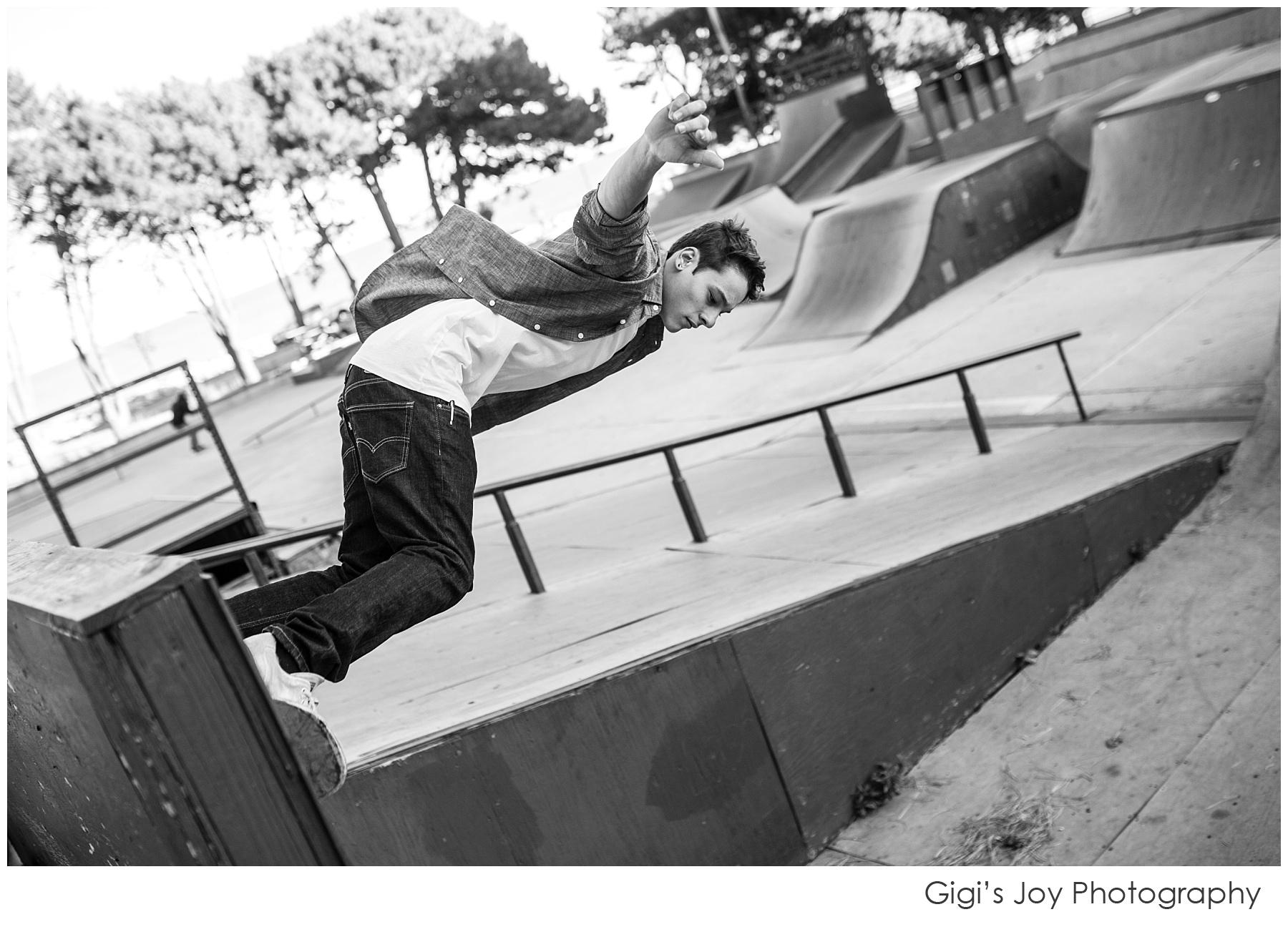 Kenosha Senior Photographer skatepark Union Grove